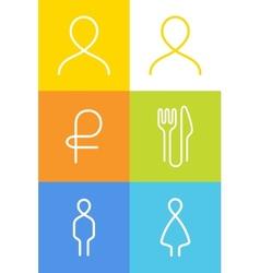 Icon pictogram Symbol vector image