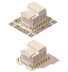 Isometric low poly opera house vector