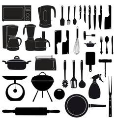 Kitchen tools for cooking vector