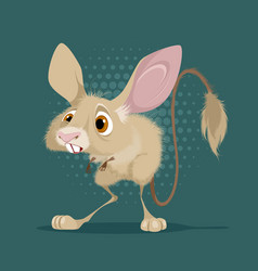 Little funny jerboa vector