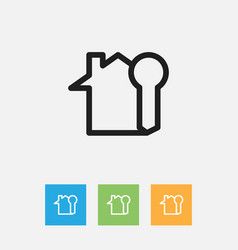 of family symbol on rent home vector image vector image