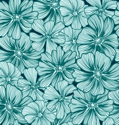 pattern texture with daisy flowers Hand-drawing vector image