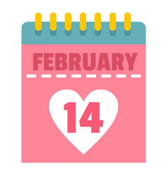 Pink valentines day calendar icon isolated vector