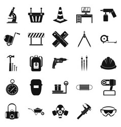 Rigging icons set simple style vector