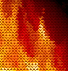 Scales pattern in red and orange shades vector image