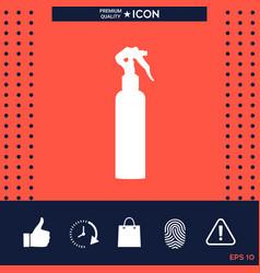 spray bottle silhouette vector image