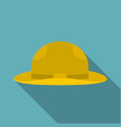 summer hat icon flat style vector image vector image