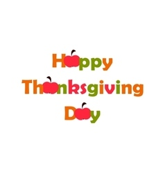 Thanksgiving Day flat vector image
