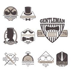 Vintage style design hipster gentleman vector