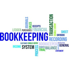 word cloud bookkeeping vector image vector image