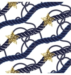 Marine navy blue rope knot seamless pattern with vector