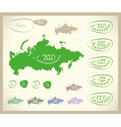 Bio map ru russia vector