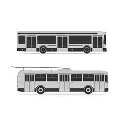 Public transportation set vector