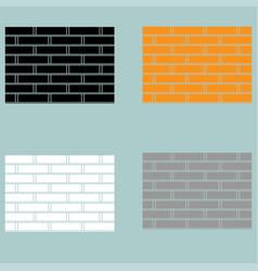 Brick wall orange black white grey colour vector