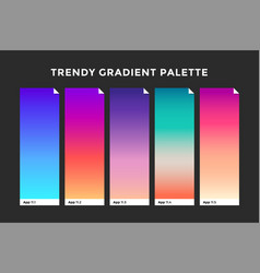 Trendy gradient swatches vector