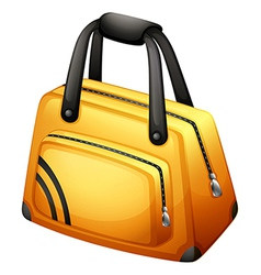 A yellow handbag vector