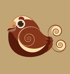 King bird cute bird abstract prehistoric color vector