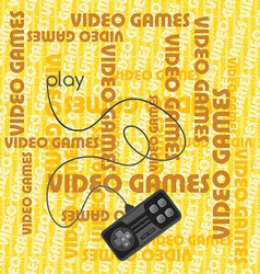 Gaming background vector