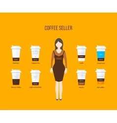 Coffee shop design elements vector