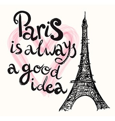 Paris is good idea vector