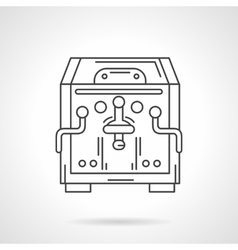 Flat line coffee machine icon coffee shop vector