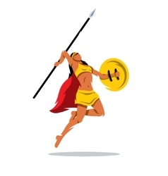 Woman Warrior with a spear Cartoon vector image