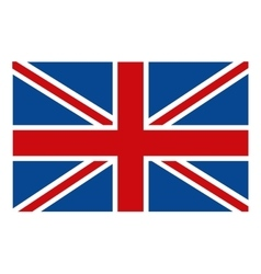 colorful british flag graphic vector image