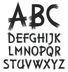 Alphabet of letters drawn paint vector