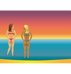 beach bikini women vector image vector image