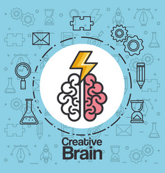 brainstorming creative idea knowledge abstract vector image