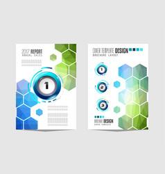 Brochure template flyer design or depliant cover vector