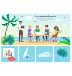 business conference seaside vector image vector image