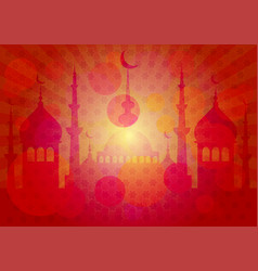 Card for greeting with ramadan vector
