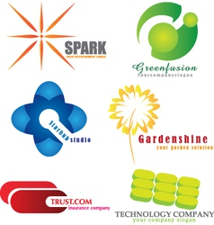Company logos vector image vector image