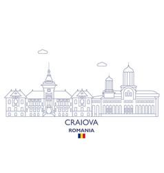 craiova city skyline vector image vector image