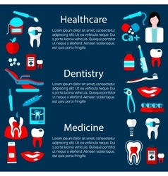 Dentistry treatment banner design template vector