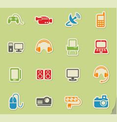 Devices icon set vector