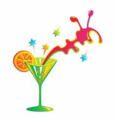 festive cocktail vector image vector image
