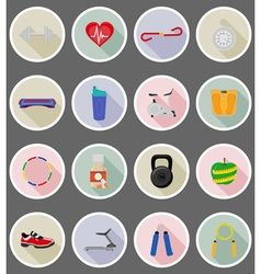 Fitness flat icons 19 vector