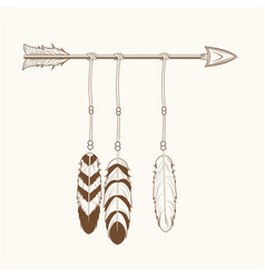 Free spirit arrow feathers tribal vector