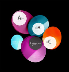 glass color circles - infographic elements on vector image vector image