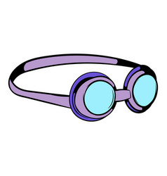 Goggles for swim icon icon cartoon vector