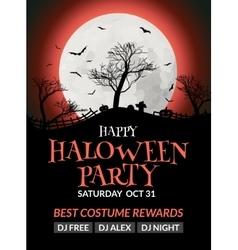 Halloween flyer or poster design template vector