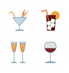 Modern bar icons vector