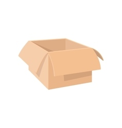 Open empty cardboard cartoon icon vector image