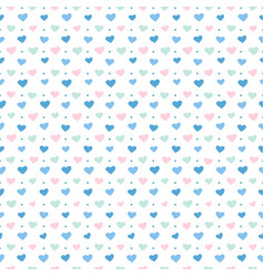Pattern blue hearts vector