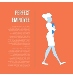 Perfect employee banner with business woman vector image vector image