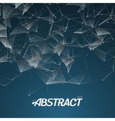 Plexus Style Fractal Polygonal Template vector image vector image