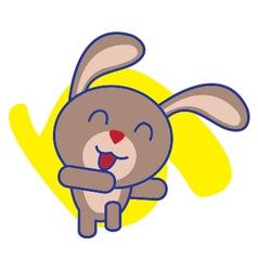 Rabbit dancing vector