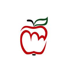 red apple logo on white vector image